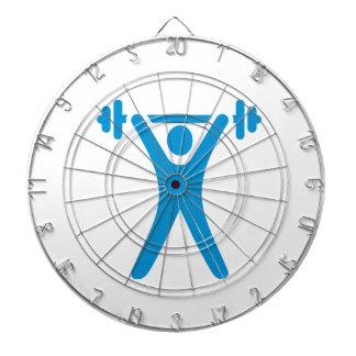Weightlifting logo dartboards