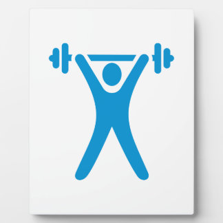 Weightlifting logo display plaques