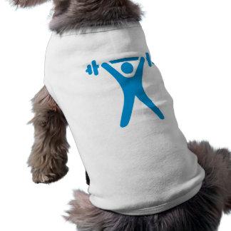 Weightlifting logo doggie t shirt