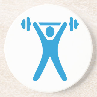 Weightlifting logo drink coaster