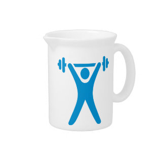 Weightlifting logo drink pitcher