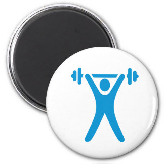 Weightlifting logo magnets