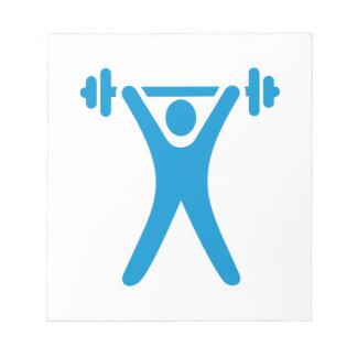 Weightlifting logo memo pad