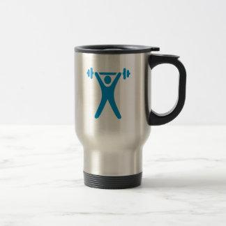 Weightlifting logo 15 oz stainless steel travel mug