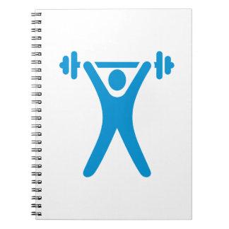 Weightlifting logo notebooks