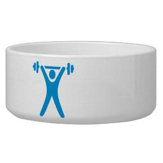 Weightlifting logo pet food bowls