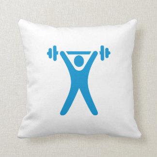 Weightlifting logo pillow