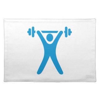 Weightlifting logo placemat