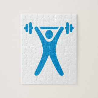 Weightlifting logo puzzles