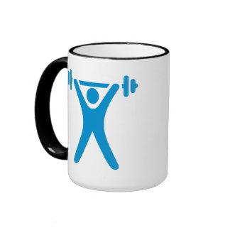 Weightlifting logo ringer coffee mug