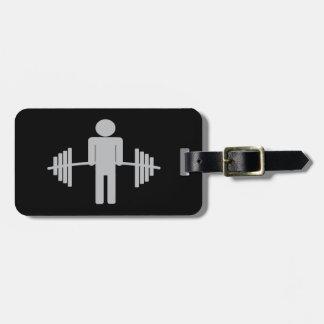 Weightlifting Luggage Tag