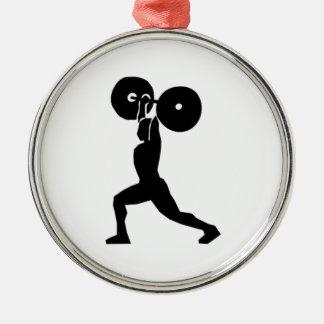 Weightlifting Metal Ornament