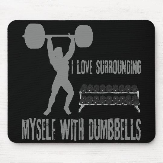 WEIGHTLIFTING MOUSE PAD