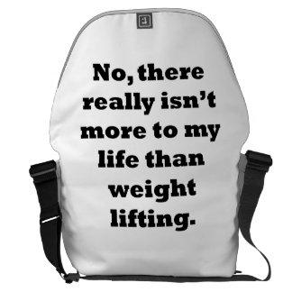 Weightlifting My Life Messenger Bag