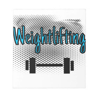 Weightlifting Notepad