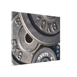 Weightlifting Plates Canvas Print