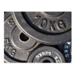 Weightlifting Plates Postcard
