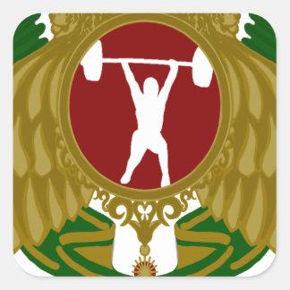 Weightlifting.png iraní pegatina cuadrada