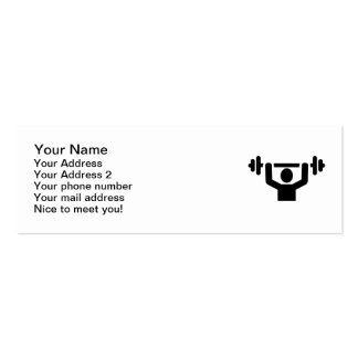 Weightlifting powerlifting business card