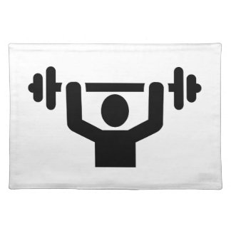 Weightlifting powerlifting place mats