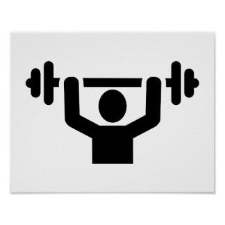 Weightlifting powerlifting poster