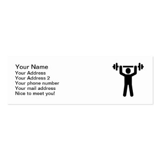 Weightlifting Powerlifting symbol Pack Of Skinny Business Cards