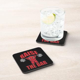 Weightlifting - Raise The Bar - Kawaii Motivation Coaster