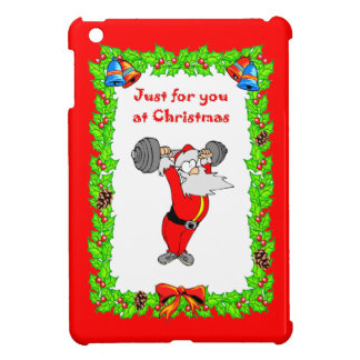 Weightlifting Santa Cover For The iPad Mini