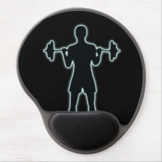 Weightlifting Silhouette Gel Mouse Pad