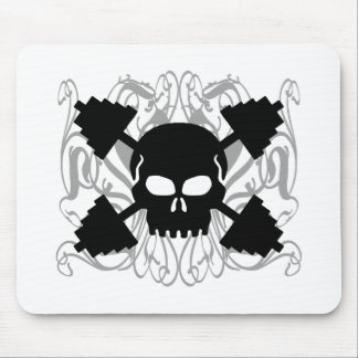 Weightlifting Skull Mouse Pad