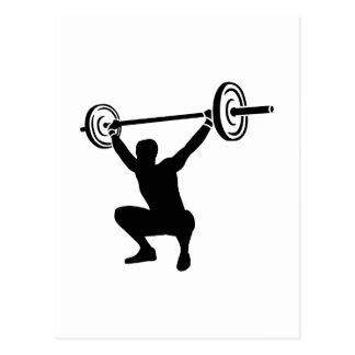 Weightlifting sports postcard