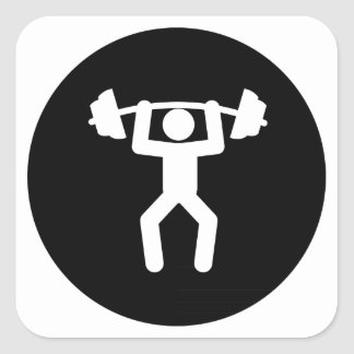 Weightlifting Square Sticker