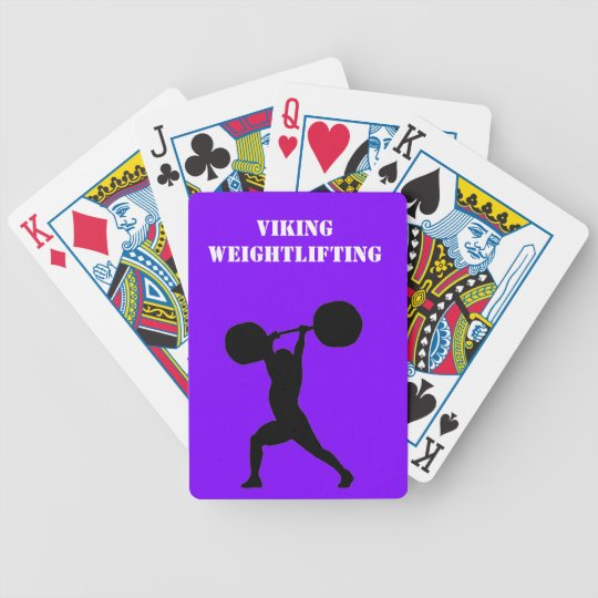 Weightlifting team bicycle playing cards