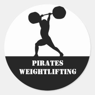 Weightlifting team classic round sticker