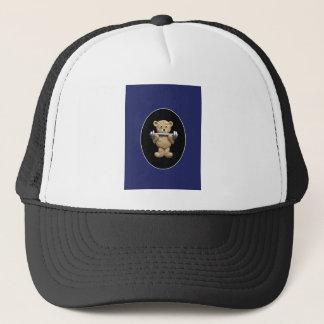 Weightlifting Teddy Bear Trucker Hat