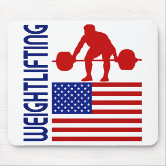 Weightlifting United States Mouse Pad