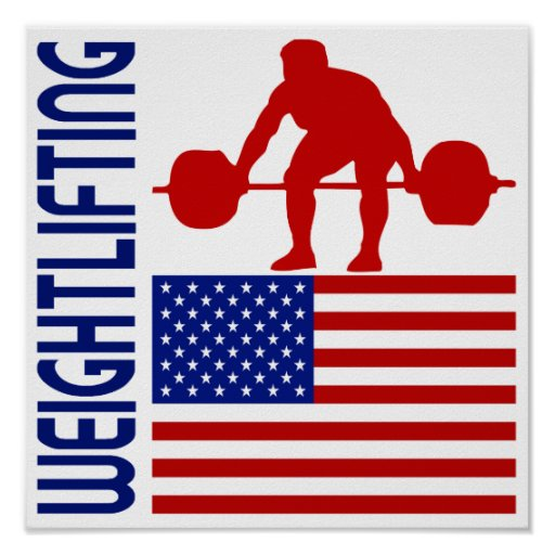 Weightlifting United States Print