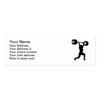 Weightlifting weightlifter business cards