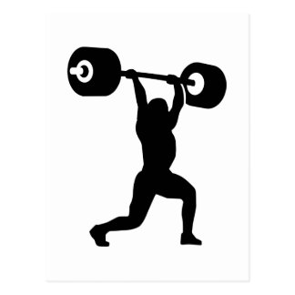 Weightlifting weightlifter postcard