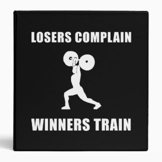 Weightlifting Winners Train 3 Ring Binder