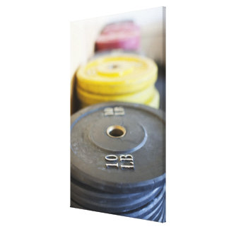Weights at Gym, Newport Beach, Orange County, Stretched Canvas Prints
