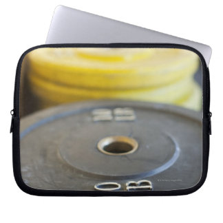 Weights at Gym, Newport Beach, Orange County, Laptop Computer Sleeves