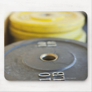 Weights at Gym, Newport Beach, Orange County, Mouse Pad