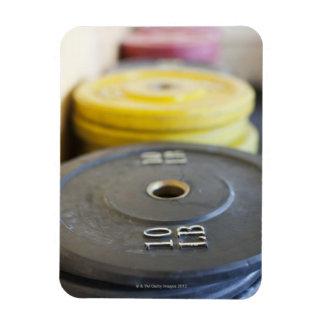 Weights at Gym, Newport Beach, Orange County, Rectangular Photo Magnet