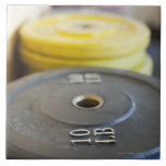 Weights at Gym, Newport Beach, Orange County, Ceramic Tile