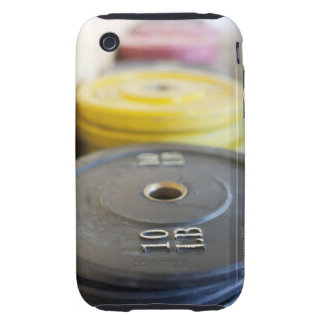Weights at Gym, Newport Beach, Orange County, Tough iPhone 3 Cover