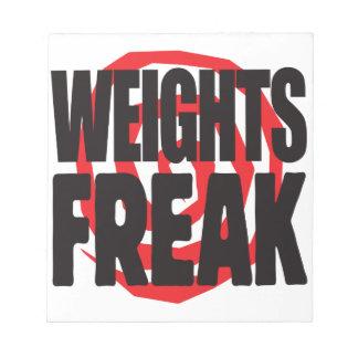 Weights Freak Scratch Pads