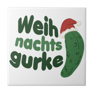 Weih Nachts Gurke Small Square Tile