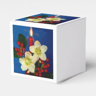 Weihnacht, adviento, candela ardiente roja feriada cajas para detalles de boda