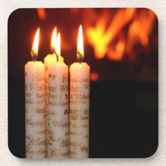 Weihnacht, adviento, candelas ardientes feriadas, posavaso